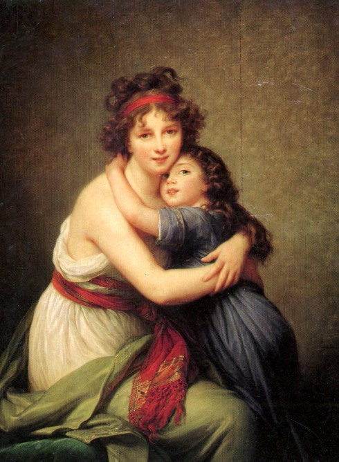 "Marie-Louise-Élisabeth Vigée-Lebrun (1755, Paris - 1842, Paris), ""Autoritratto con la figlia Julie"" / ""Self-Portrait with Her Daughter, Julie"", ca. 1789, Olio su tela / Oil on canvas, 130 x 94 cm, Musée du Louvre, Paris"