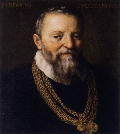 "Federico Zuccaro (ca. 1542, Sant'Angelo in Vado - 1609, Ancona), ""Autoritratto"" / ""Self-Portrait"", dopo il 1588 / after 1588, Olio su tela / Oil on canvas, Galleria degli Uffizi, Firenze"