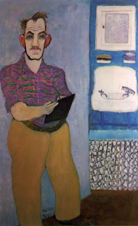 """Milton Avery (1885, Altmar - 1965, New York), """"Autoritratto"""" / """"Self-Portrait"""", 1941, Olio su tela / Oil on canvas, 137.2 x 86.4 cm, Collezione di / Collection of Roy R. Neuberger"""