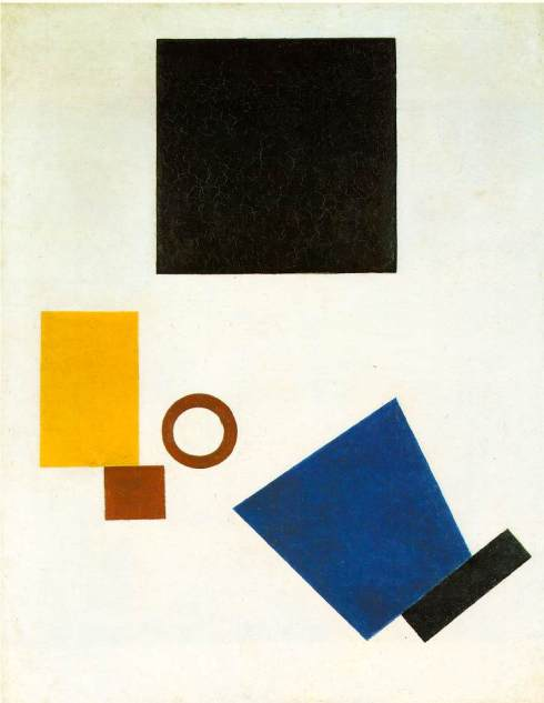 "Kasimir Malevich ( Kiev - 1935, Saint Petersburg), ""Suprematism: Autoritratto in due dimensioni"" / ""Suprematism: Self-Portrait in Two Dimensions"", 1915, Olio su tela / Oil on canvas, 80 x 62 cm, Stedelijk Museum, Amsterdam"