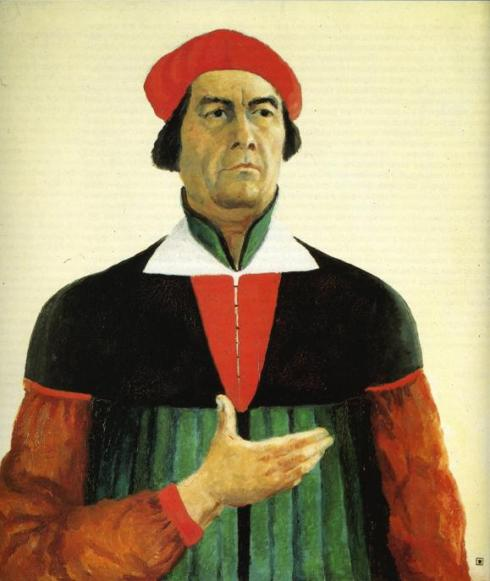 "Kasimir Malevich ( Kiev - 1935, Saint Petersburg), ""Autoritratto"" / "":Self-Portrait"", 1933, Olio su tela / Oil on canvas, 73 x 66 cm, Russian Museum, St. Petersburg"