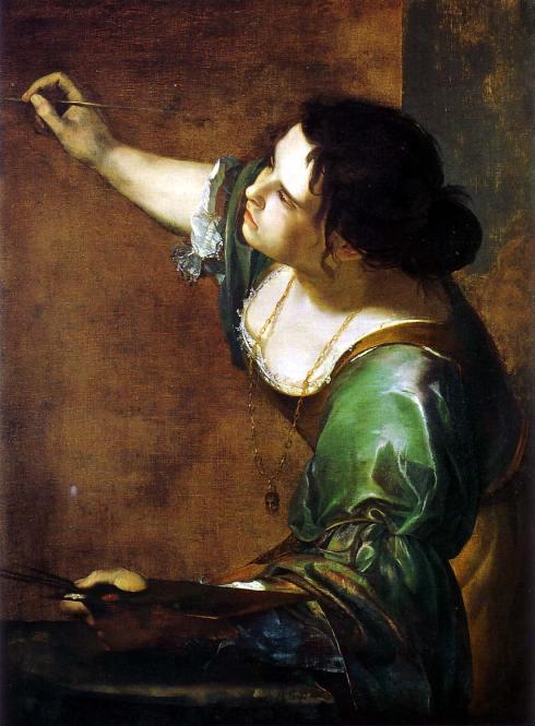 """Artemisia Gentileschi (1593, Roma - 1651, Napoli), """"Autoritratto come Allegoria della Pittura"""" / """"Self-Portrait the Allegory of Painting"""", 1638/39, Olio su tela / Oil on canvas, 98.6 x 75.2 cm, Collezione Reale / Royal Collection, Windsor"""
