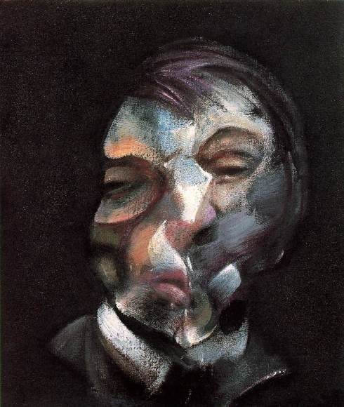 "Francis Bacon (1909, Dublin - 1992, Madrid), ""Autoritratto"" / ""Self-Portrait"", 1971, Olio su tela / Oil on canvas, 35.5 x 30.5 cm, Musée National d'Art Moderne, Centre Georges Pompidou, Paris"