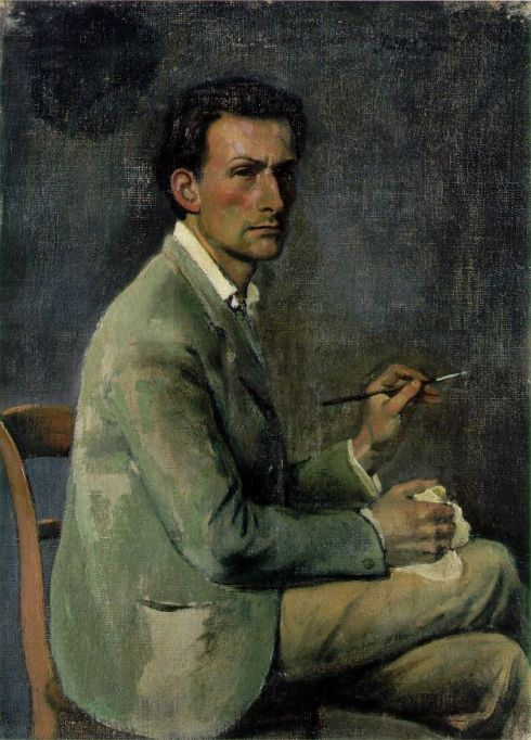 "Balthus (Balthasar Kłossowski de Rola, 1908, Paris - 2001, Rossinière), ""Autoritratto"" / ""Self-Portrait"", 1940, Olio su tela / Oil on canvas, 44 x 32 cm, Collezione private / Private Collection"