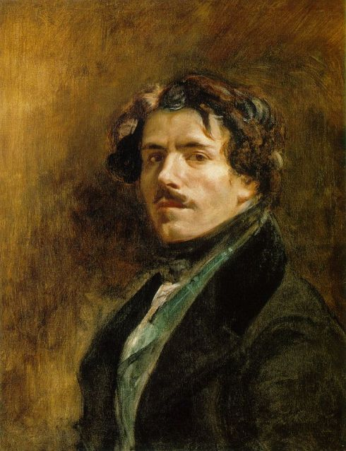 "Eugene Delacroix (1798, Charenton-Saint-Maurice - 1863, Paris),""Autoritratto"" / ""Self-Portrait"", ca. 1837, Olio su tela / Oil on canvas, 65 x 54.5 cm, Musée du Louvre, Paris"