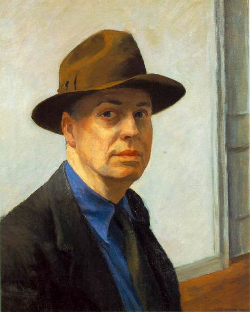 "Edward Hopper (1882, Nyack - 1967, New York), ""Autoritratto"" / ""Self-Portrait"", 1925-30, Oil on canvas, 63.7 x 51.7 cm, Whitney Museum of American Art, New York"