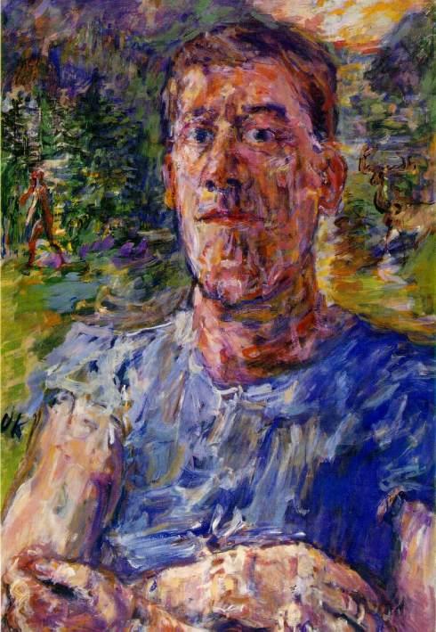 "Oskar Kokoschka (1886, Pöchlarn, Austria - 1980, Montreux, Svizzera), Autoritratto (come ""Artista degenerato"") / ""Self-portrait (of a ""Degenerate Artist"")"", 1937, Olio su tela / Oil on canvas, 110 x 85 cm, Scottish National Gallery of Modern Art, Edinburgh"