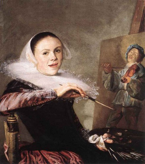"Judith Leyster (1609, Haarlem - 1660, Heemstede), ""Autoritratto"" / ""Self Portrait"", ca. 1635, Olio su tela / Oil on canvas, 72.3 x 65.3 cm, National Gallery of Art, Washington"