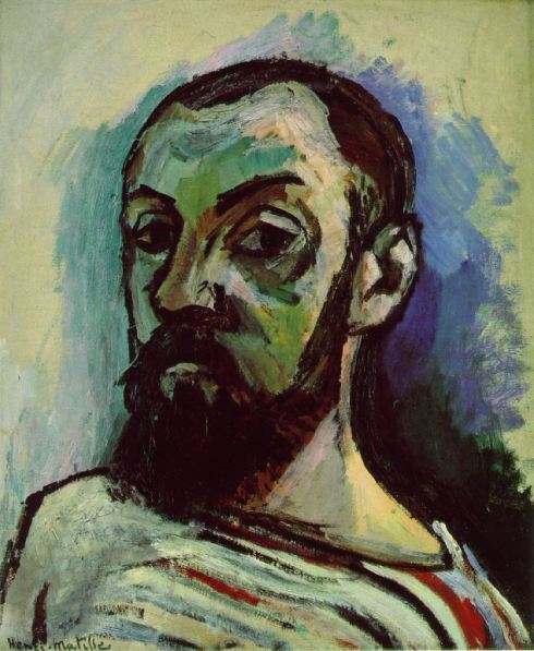 "Henri Matisse (31 dicembre 1869, Le Cateau-Cambrésis - 1954, Nice), ""Autoritratto"" / ""Self-Portrait"", 1906, Olio su tela / Oil on canvas, 55 x 46 cm, Statens Museum for Kunst, Copenhagen"
