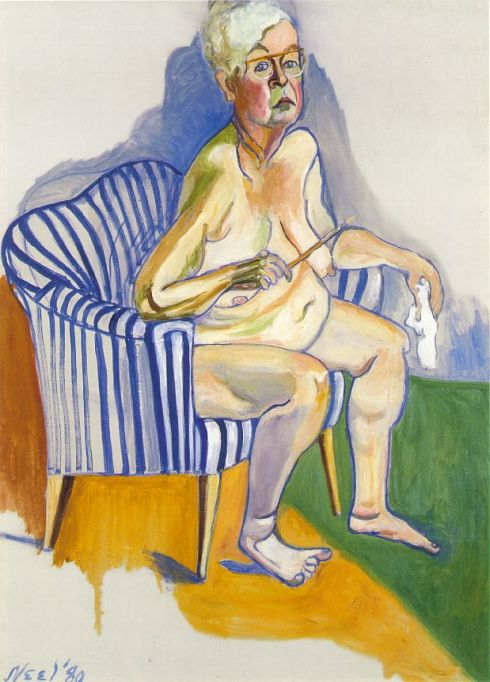 "Alice Neel (1900, Merion Square, Pennsylvania - 1984, New York City), ""Autoritratto"" / ""Self Portrait"", 1980, Olio su tela / Oil on canvas, 137.2 x 101.6 cm, National Portrait Gallery, Washington"