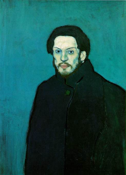 "Pablo Picasso (1881, Málaga - 1973, Mougins), ""Autoritratto con il mantello"" / ""Self Portrait with Cloak"", 1901, Olio su tela / Oil on canvas, 81 x 60 cm, Musée Picasso, Paris"