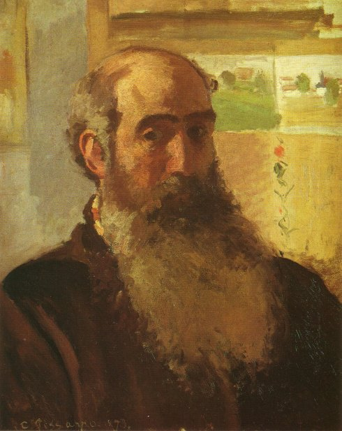 "Camille Pissarro (1830, Charlotte Amalie - 1903, Paris), ""Autoritratto"" / ""Self-Portrait"", 1873, Olio su tela / Oil on canvas, 56 x 46,5 cm, Musée d'Orsay, Paris"
