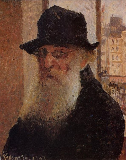 "Camille Pissarro (1830, Charlotte Amalie - 1903, Paris), ""Autoritratto"" / ""Self-Portrait"", 1903, Olio su tela / Oil on canvas, 53.9 x 46.5 cm, Tate Gallery, London"